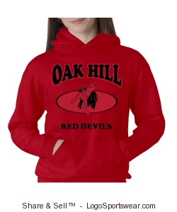 Oak Hill Devils Spirit Hoodie Design Zoom